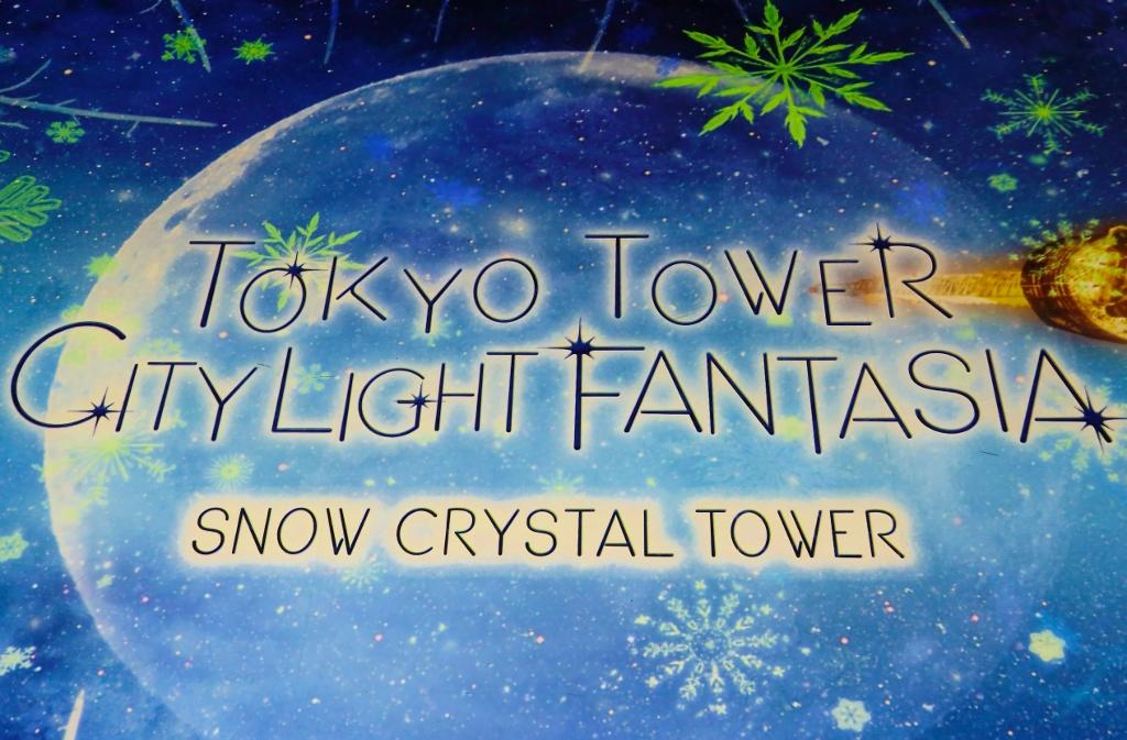 冬のプロジェクションマッピング TOKYO TOWER CITY LIGHT FANTASIA ~SNOW CRYSTAL TOWER~